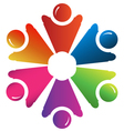 Teamwork people hands up group vector image vector image