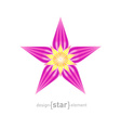 Beautiful Flower design element vector image
