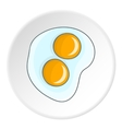 Fried egg icon flat style vector image