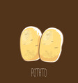 funny cartoon cute brown potatoes set vector image