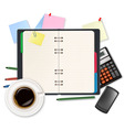 Office dairy and business supplies vector image