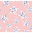 seamless colorful stars pattern Rose vector image