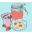 Sweet breakfast vector image