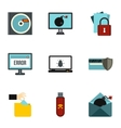 Viruses icons set flat style vector image