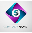 Letter S logo symbol in the colorful rhombus vector image