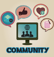Vintage concept of community with bubbles vector image vector image
