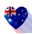 crystal gem jewelry Australian heart with the vector image