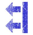 bring left grunge textured icon vector image