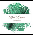 exotic tropical summer leaves design template vector image vector image
