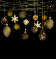 Winter background with a christmas decoration vector image vector image