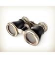Vintage binoculars vector image