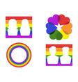 color gay symbol icons vector image vector image