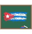 chalk flag of cuba vector image