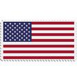 American flag on postage stamp vector image
