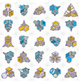 engineering constructions collection abstract set vector image