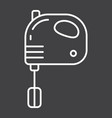 hand mixer line icon household and appliance vector image