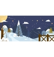 Landscape Banner or backfround with winter nature vector image