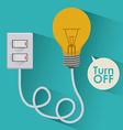 Light bulb design vector image