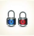 locks closed unclosed vector image