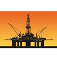 Oil derrick vector image