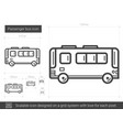 passenger bus line icon vector image