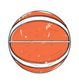 retro basketball ball vector image