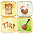 Set of Hawaiian icons vector image