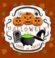 the theme halloween vector image