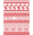 Seamless Xmas pattern with stockings vector image