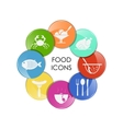 Food and drink set vector image