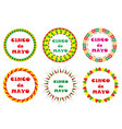 cinco de mayo set of round frames with space for vector image