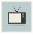 Retro Background CRT TV Set Vintage vector image