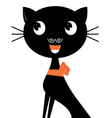 Beautiful halloween cat isolated on white vector image vector image