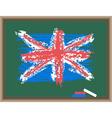 chalk flag of england vector image vector image