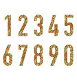 Set of doodle numbers vector image