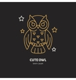 Cute owl Modern line icon of vector image