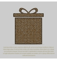 gold sequin gift box Eps 10 vector image