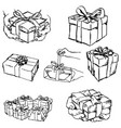 hand holding or offering gift or present vector image