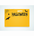 happy halloween poster halloween bat under the vector image