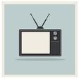 Retro Background CRT TV Set Vintage vector image