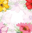 Watercolor flower background vector image
