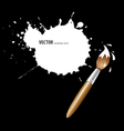 Paint brush white ink background vector image
