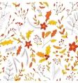 Seamless autumn garden pattern vector image
