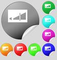 Volume adjustment icon sign Set of eight multi vector image