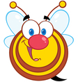 Honey Bee Cartoon Mascot Character vector image