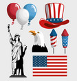 america related objects vector image
