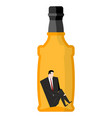 man drinker inside bottles businessman sitting in vector image