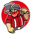 lumberjack mascot vector image vector image