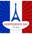 14th July Bastille Day vector image