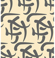 Hieroglyphs abstract seamless pattern Ancient vector image
